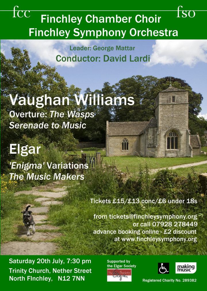 The Music Makers: Elgar and Vaughan Williams, Saturday 20 July 2019, 7.30pm
