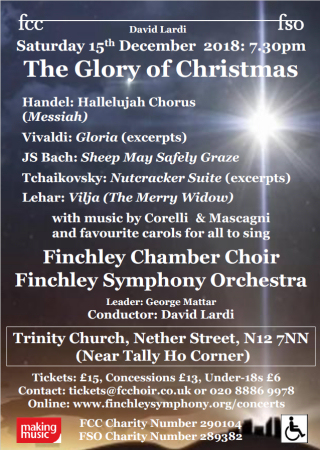 The Glory of Christmas: Saturday 15 December 2018, 7.30pm