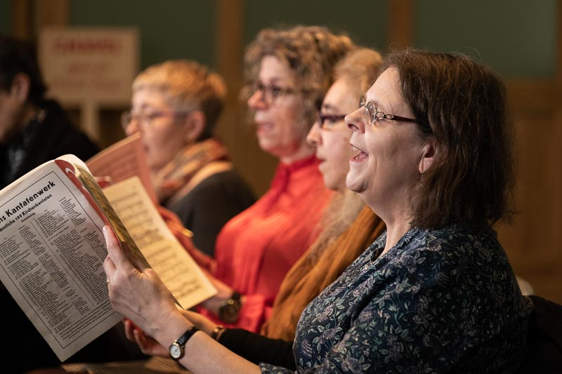 Finchley Chamber Choir members in rehearsal